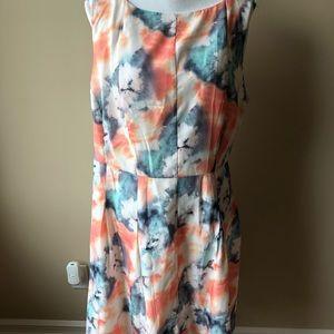 ModCloth Bea and Dot watercolor tea dress 3X